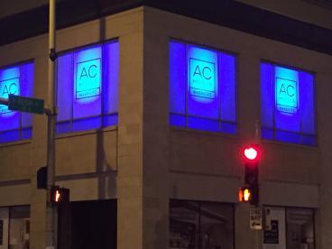 AC Hotel Illuminated Window Graphics