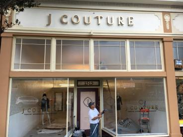 J Couture raised lettering Alameda