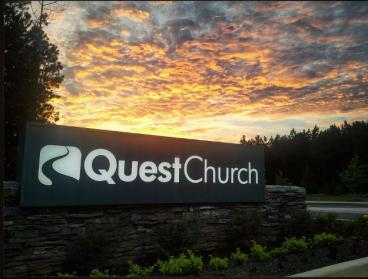 Outdoor Monument Sign- Quest Church