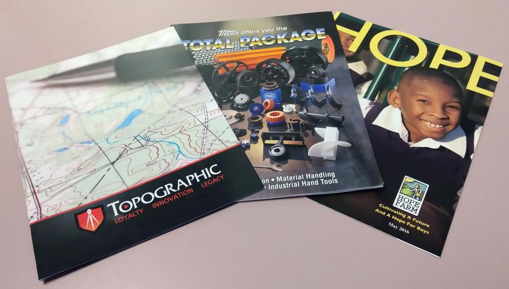 Full color, muli-page brochures / newsletters / booklets