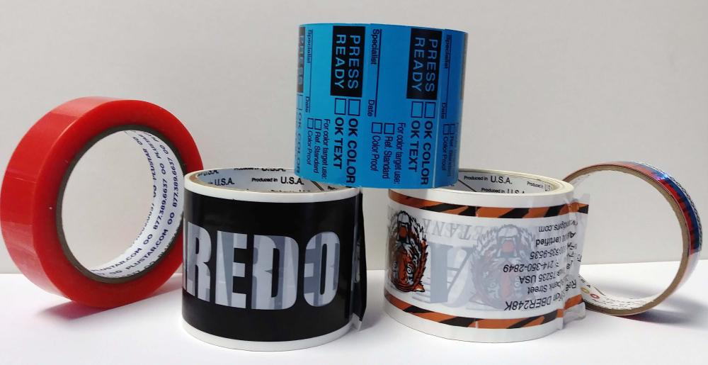 Custom imprinted tapes and packaging products