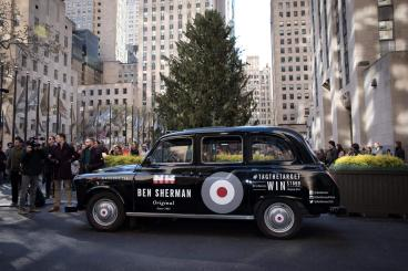 British Taxi's promoting Ben Sherman