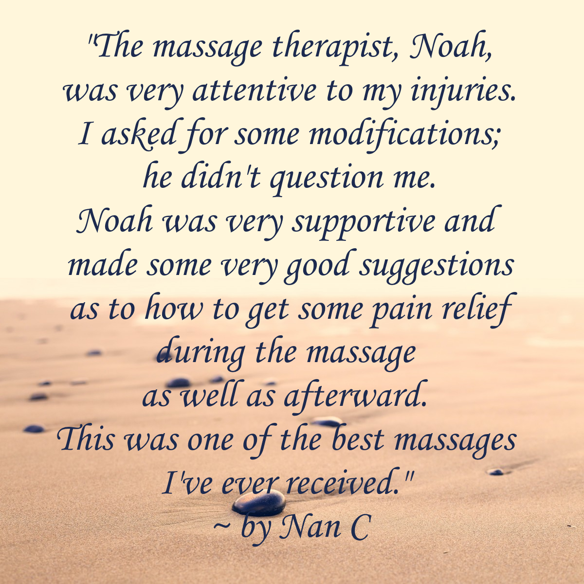 Testimonial for Noah