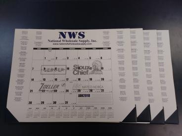 National Wholesale Supply desk pad calendar