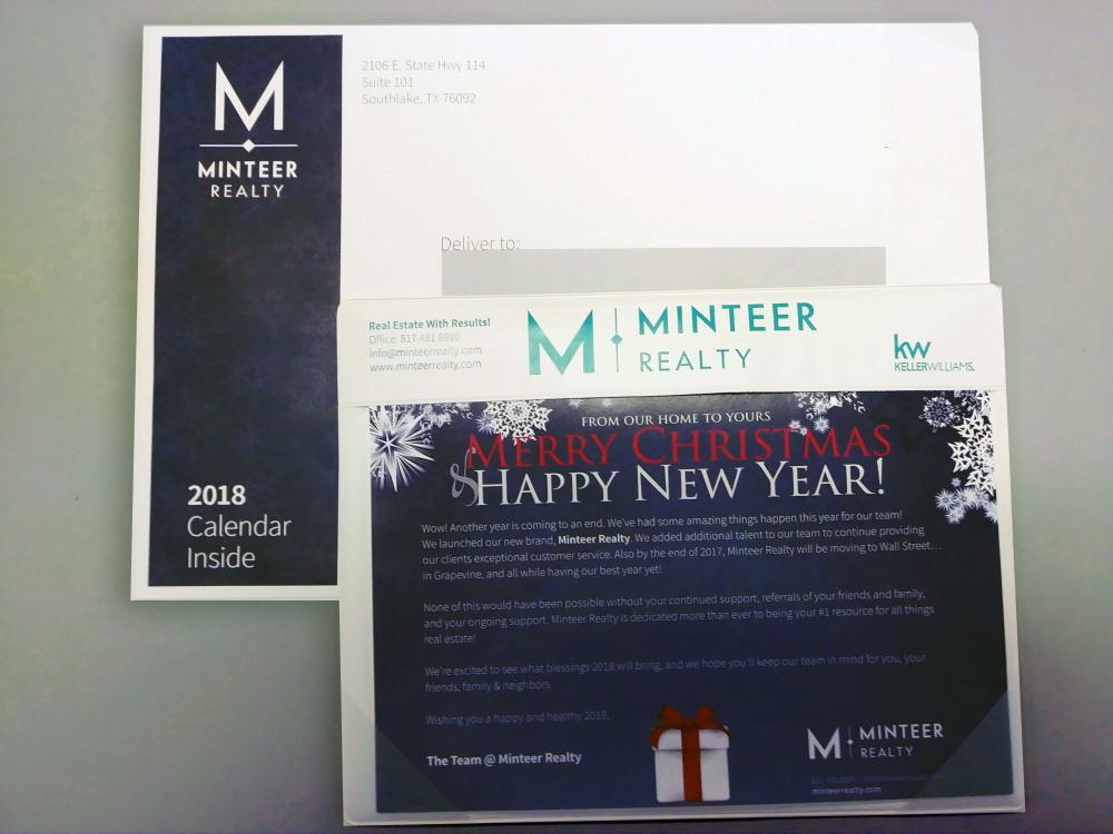 Minteer Realty Holiday Calendar Mailer