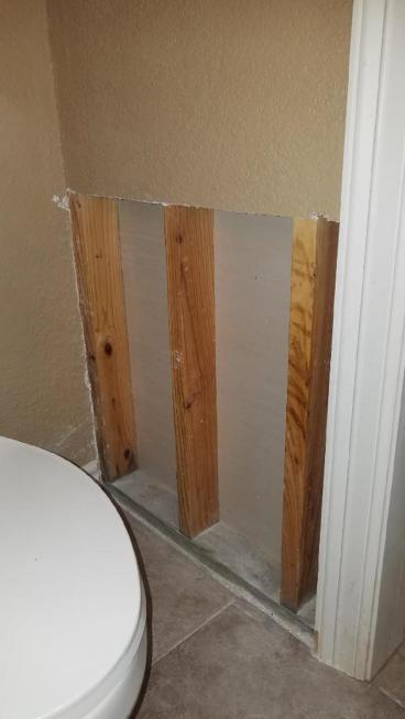 Drywall Repair in Dickinson (BEFORE)