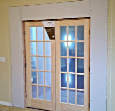 French Door installation in Foxfield CO-Before