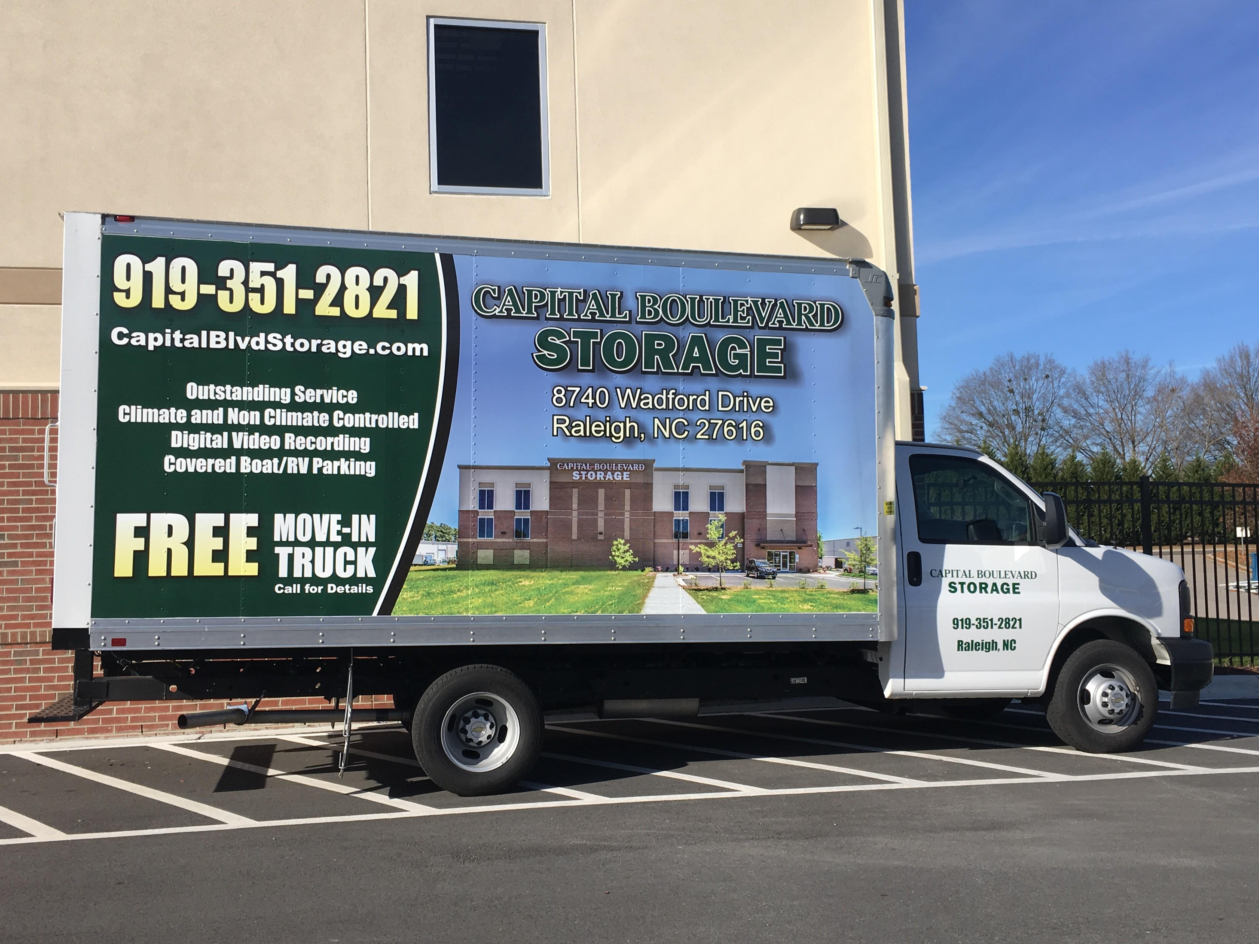 Free Truck Use with Any Size Storage Rental!