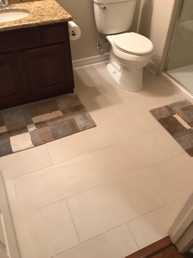 Bathroom remodel - floor tile