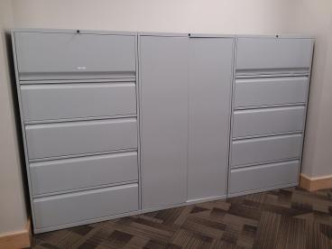 File Cabinets Before We Wrapped Them With DI-NOC