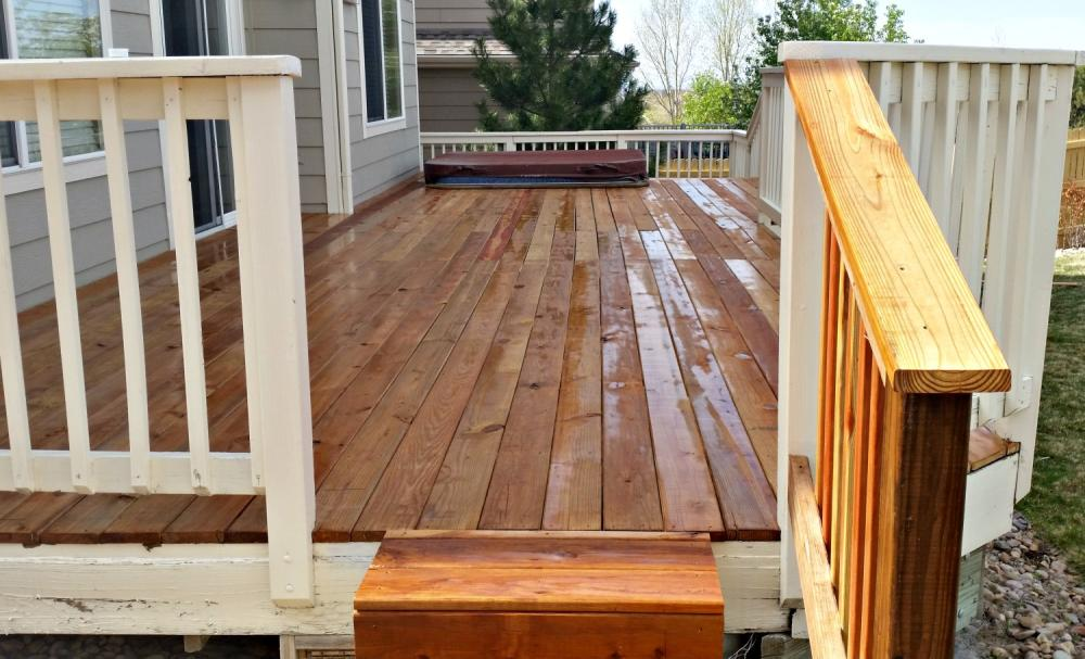Repaired back deck in Foxfield, CO