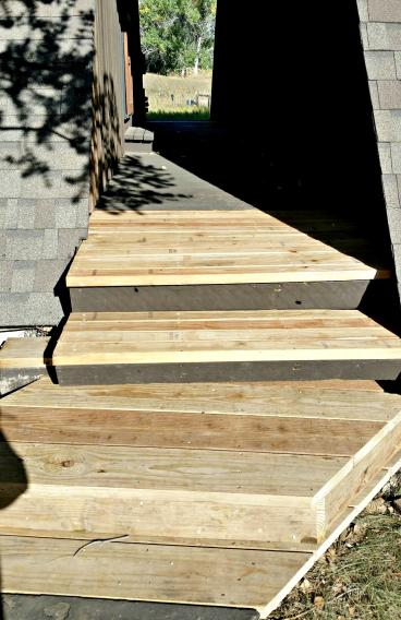Part of massive deck and stair rebuild in Roxborough Park, CO
