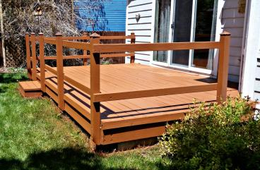 Rebuilt and stained deck in Parker, CO