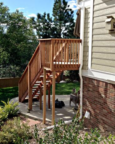 Built deck and staircase for home in Greenwood Village, CO