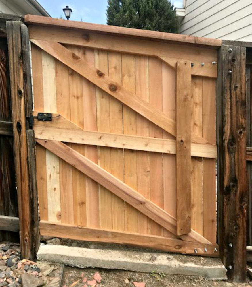 Custom built gate replacement in Parker, CO