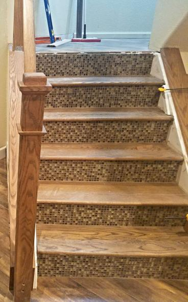 Staircase construction and handrail built in Golden, CO