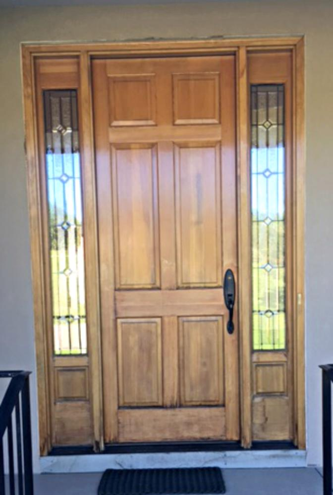 Entry way Door to be re stained in Morrison CO - Before