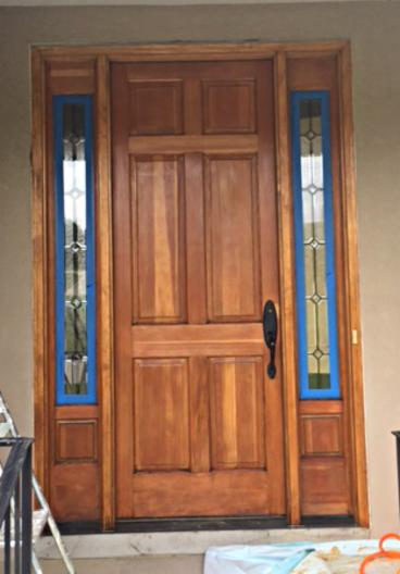 Completely re-stained and sealed door in Morrison, CO - After