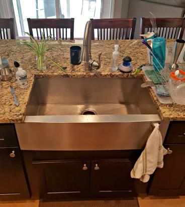 New install of undermount kitchen sink & faucet Morrison CO