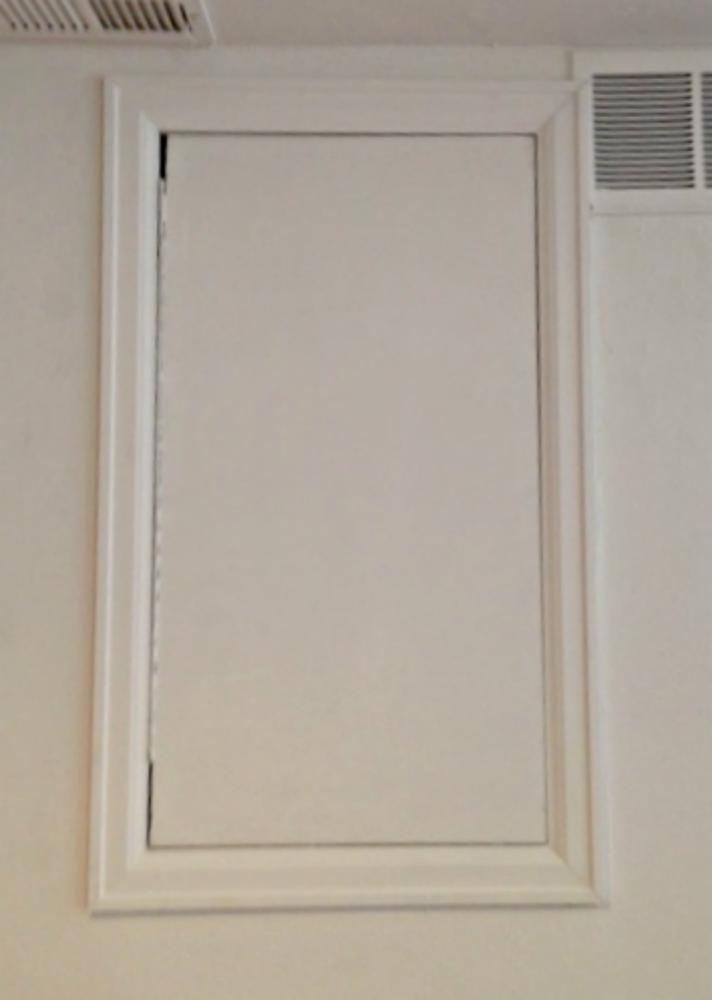 Custom build service panel access door in Castle Pines, CO - After Photo
