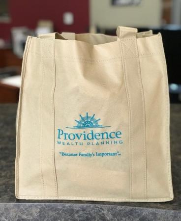 Reusable bag for Providence Wealth, Corona, CA.