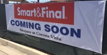 Coming Soon Banner, Smart & Final, Corona, CA