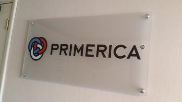 Primerica Logo Stands Out on Acrylic