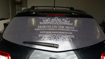 Marketing Designs on the Move to a Captive Audience with Rear Window Graphics