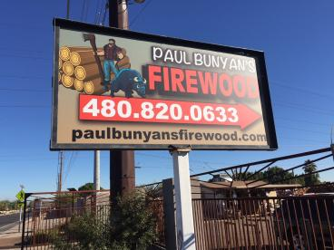 Large Outdoor Signage for Paul Bunyan's Firewood
