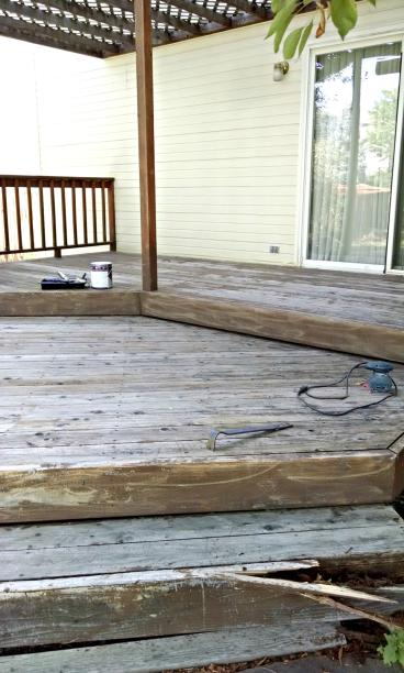 Closer view of damaged deck in Golden CO 80401