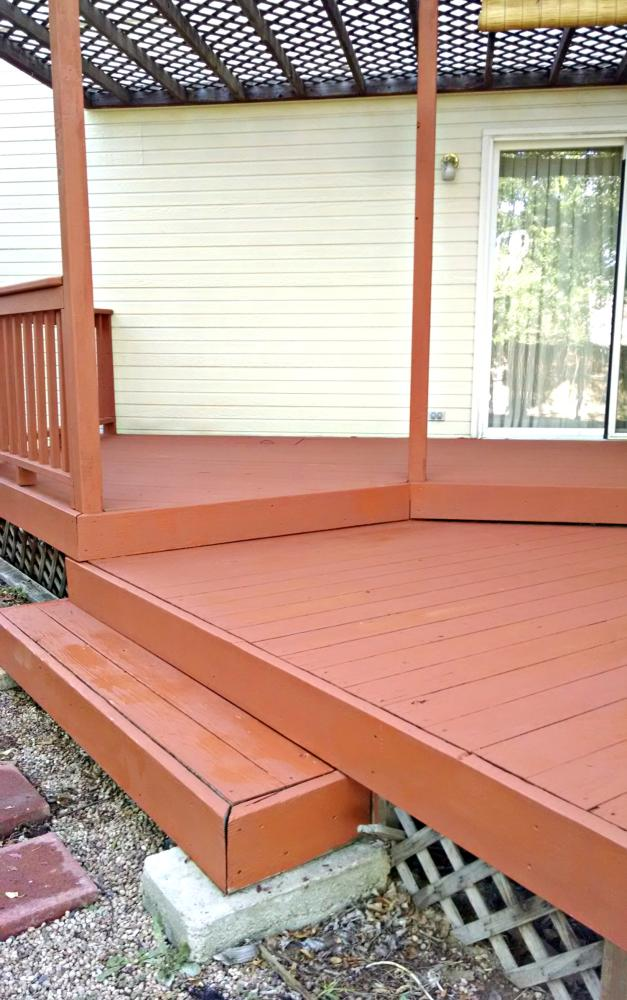 Amazing transformation of worn deck in Golden CO 80401