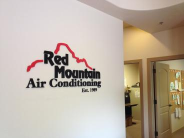 Red Mountain Air Conditioning Interior Signage