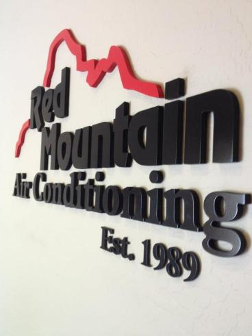 Dimensional Signage for Red Mountain Air Conditioning