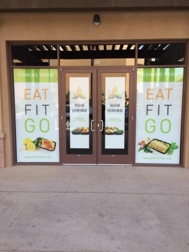 Storefront Graphics for Eat Fit Go
