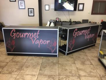 Point of Sale Signage for Gourmet Vapor