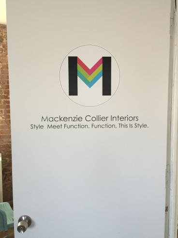 Door Decal for Mackenzie Collier Interiors