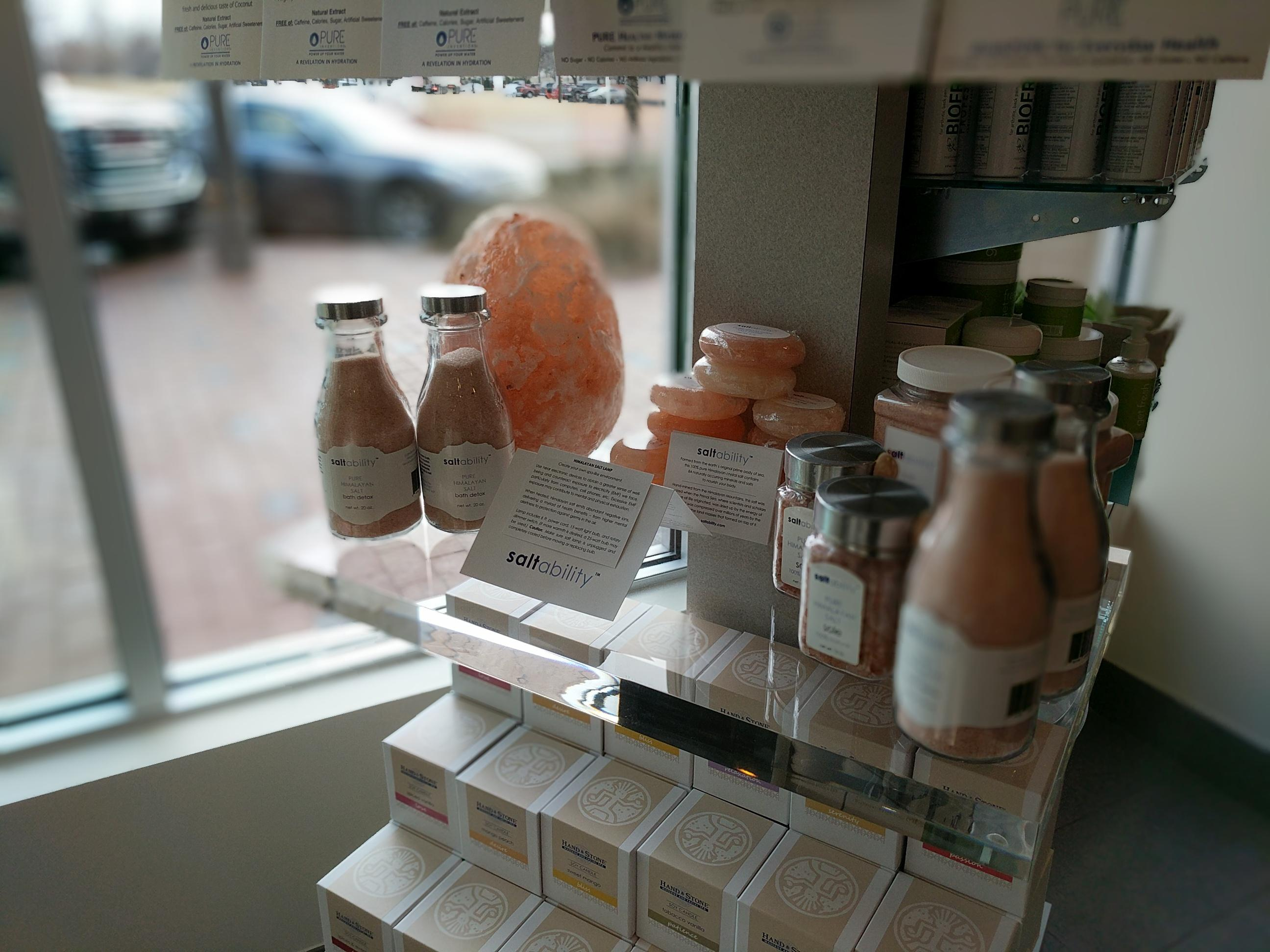 Take Home Himalayan Salt Products