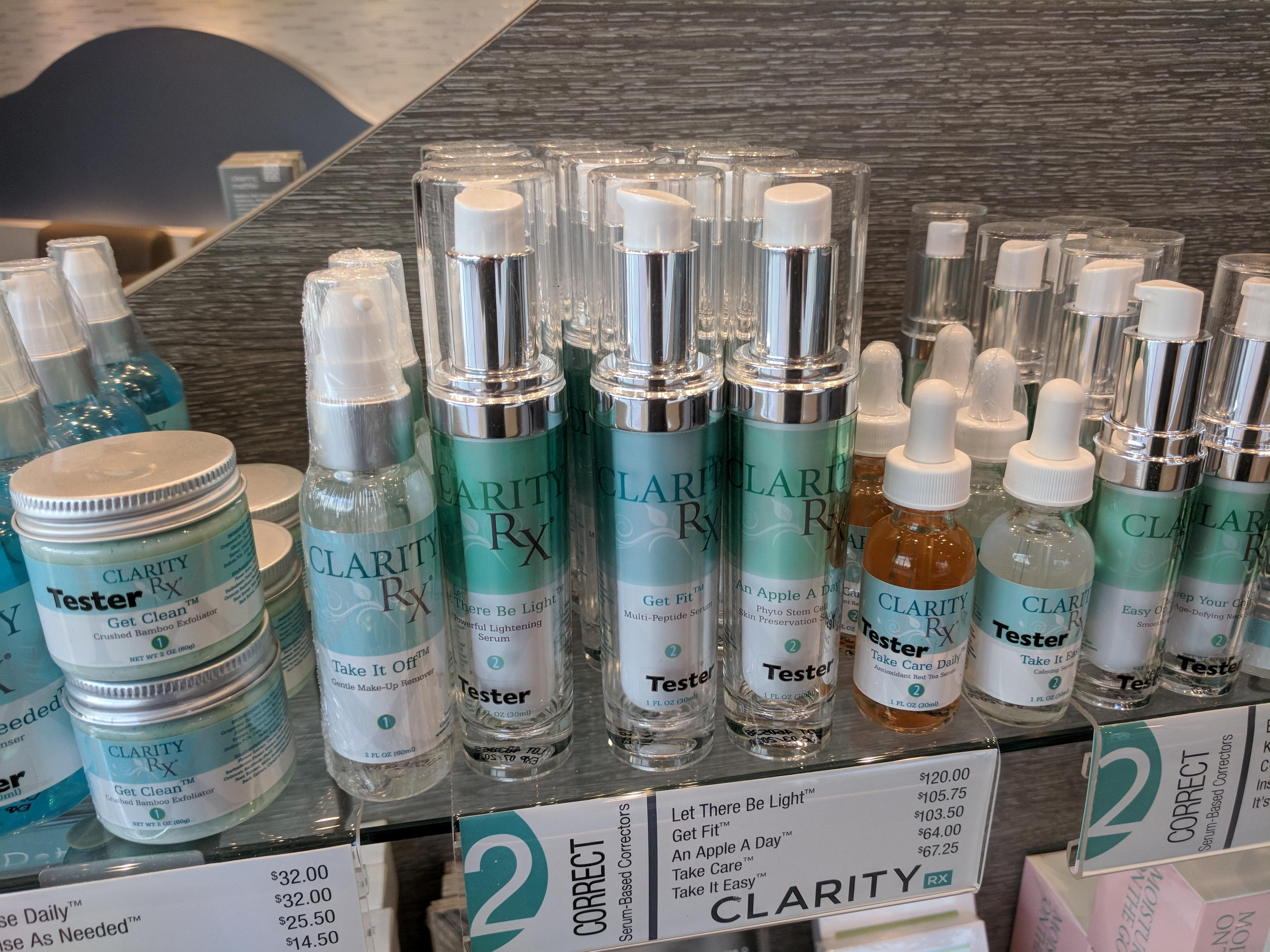 We Sell Professional ClarityRx Skin Care Products