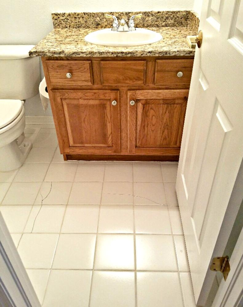 Cracked tile from poor workmanship in Golden CO 80401