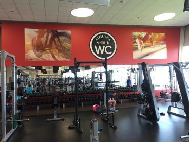 The Wellness  Center Gym Graphics