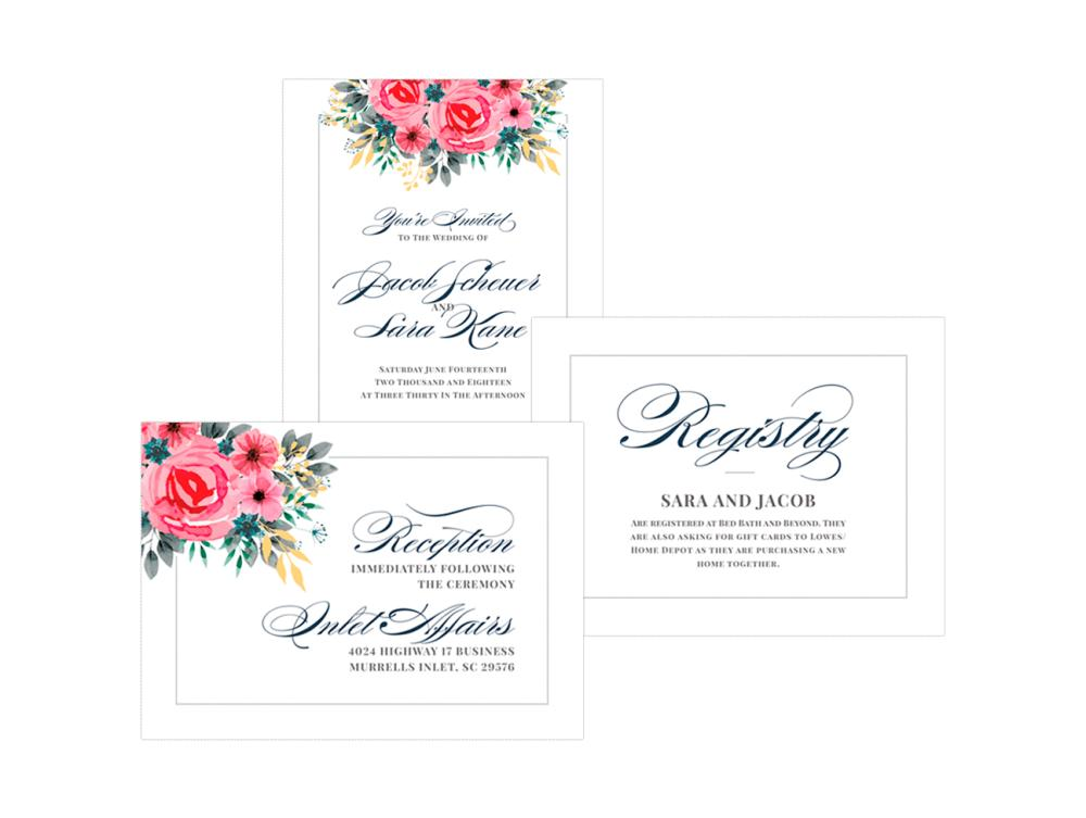 Wedding & Reception Invitations