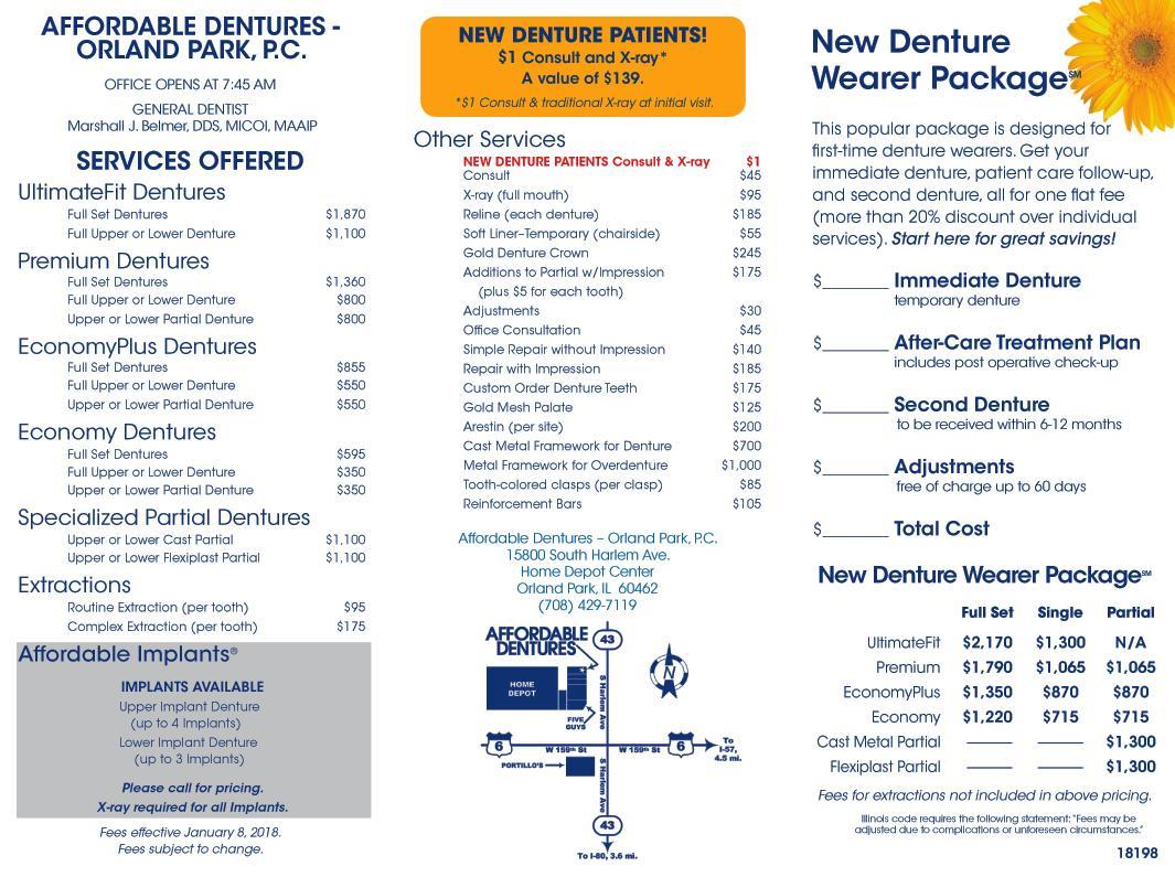 denture care center orland park il dentist 60462 affordable dentures implants. Black Bedroom Furniture Sets. Home Design Ideas