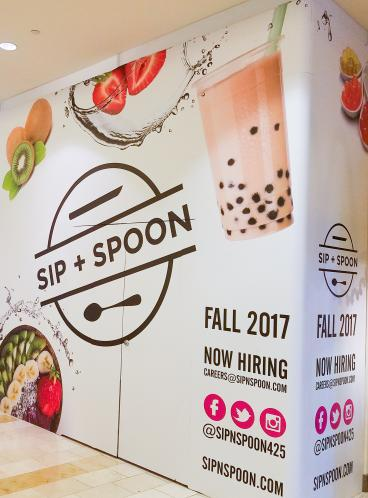 Sip + Spoon Retail Store Reveal Graphics