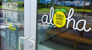 Wow Wow Hawaiian Lemonades Door Graphics