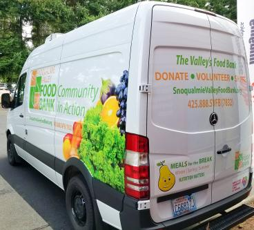 Snoqualmie Valley Food Donation Van Wrap