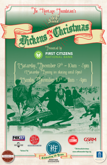 Dickens of a Christmas event poster