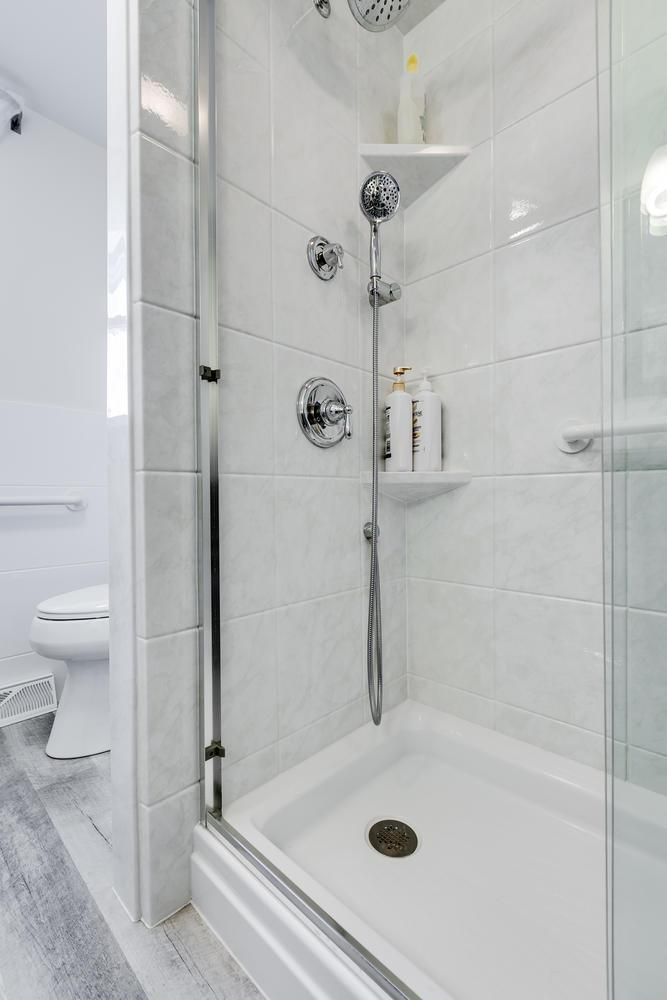 After - new Re-Bath shower with Moen fixtures