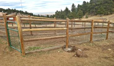 Split rail fence project in Morrison CO 80465