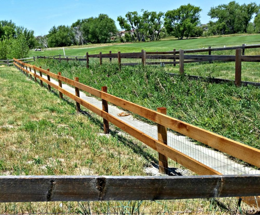 Finished Split rail view in Castle Rock CO 80108