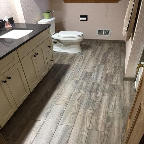 Complete Bathroom Remodel with new vanity, toilet & flooring